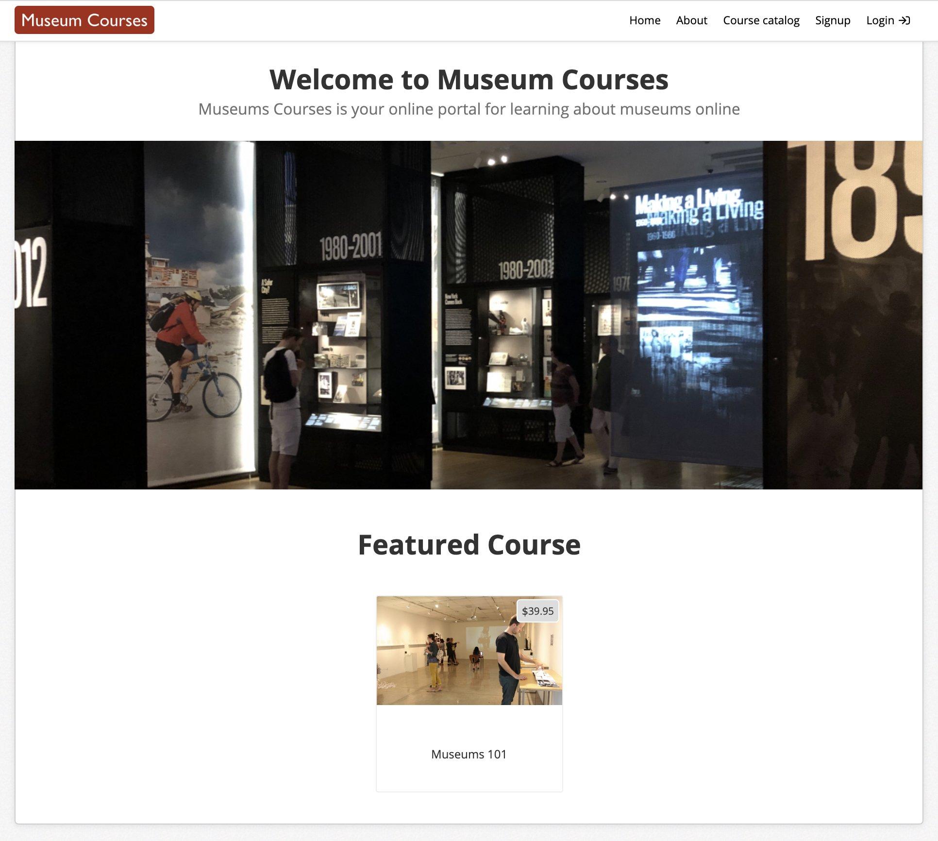 MuseumCourses.com online portal for online museum classes